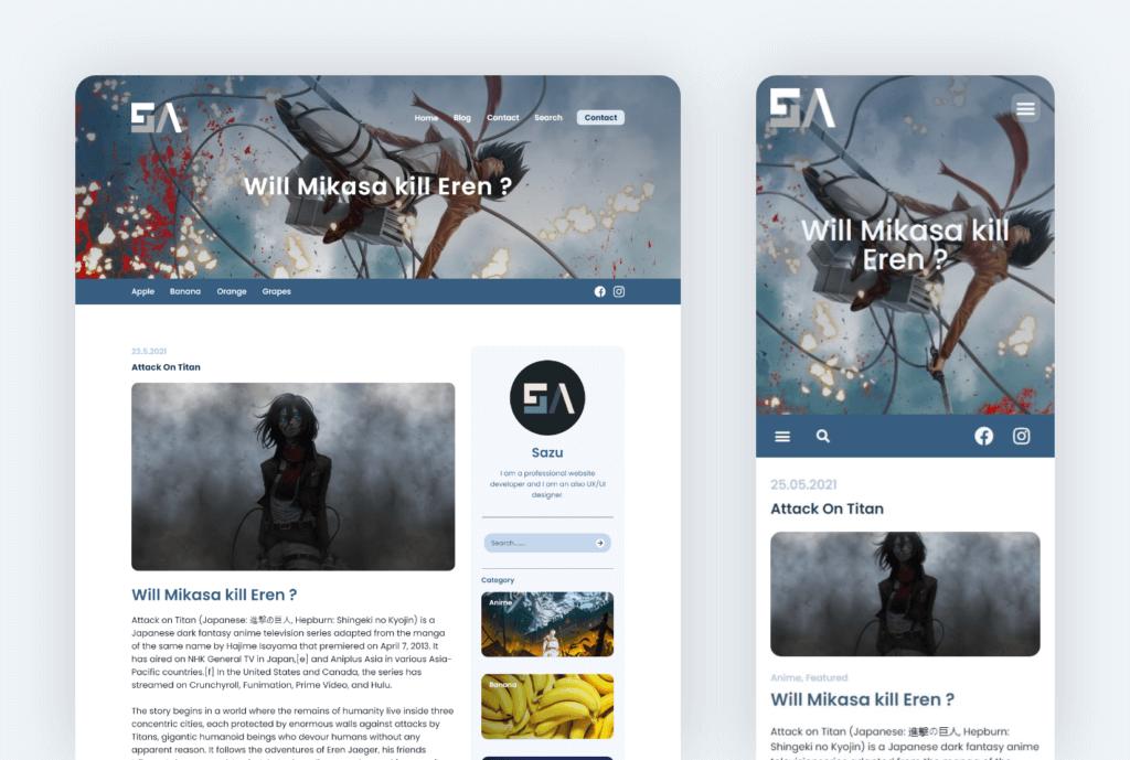 a blogging site made by sazu